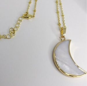 """Jewelry - """"Glistening"""" Carved Shell Necklace"""